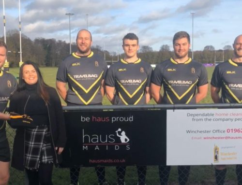 Haus Maids Sponsors Winchester Rugby Club